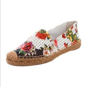 💯 Dolce & Gabbana floral espadrilles - EUC